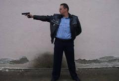 Inspectorul Victor Paladuta unul dintre cei mai buni tragatori din tara