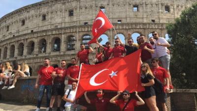 Intalnire de gradul 0 intre suporterii turci si italieni la Roma, inaintea EURO 2020. Ce s-a intamplat intre cele doua grupari de fani VIDEO