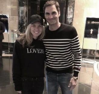 Intalnire de zile mari pentru Simona Halep la Australian Open: Numarul 1 WTA s-a vazut cu idolul Federer
