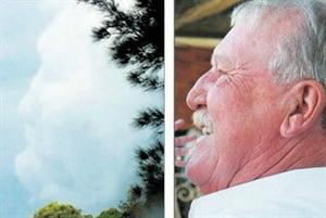 Intamplare neobisnuita: Fata unui om a aparut pe nori, inainte sa moara (Video)