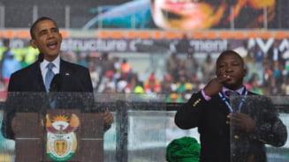 Intamplari cu falsul interpret de limbajul semnelor de la inmormantarea lui Mandela