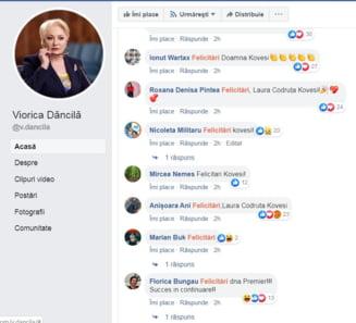 """Internautii au luat cu """"asalt"""" postarea lui Dancila despre candidatura la Cotroceni: Mii de felicitari pentru ... Kovesi"""