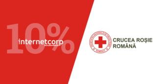 InternetCorp doneaza 10% din campaniile de comunicare catre Crucea Rosie Romana