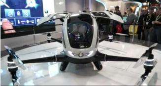 Intra in functiune dronele pentru transportul oamenilor - Cat pot zbura si cu ce viteza
