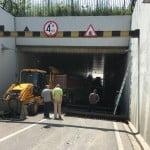 Inundatii in Bacau: Probleme la Pasajul Oituz-Guse. Primarul Cosmin Necula anunta cand va fi redat circulatiei