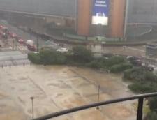 Inundatii in Belgia, inclusiv la Bruxelles: Drumuri inchise, au fost afectate metroul si aeroportul (Foto & Video)