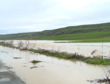 Inundatii in sudul tarii: Peste 1.200 de hectare de teren si sute de fantani afectate