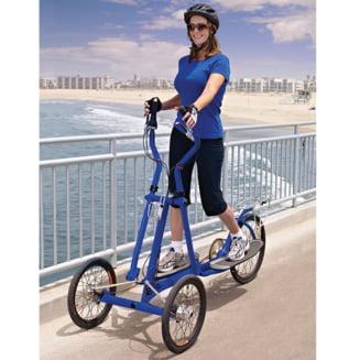 Inventie inedita: bicicleta eliptica pe care poti sa iesi la plimbare