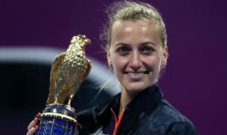 Invinsa de o romanca la Australian Open, Petra Kvitova s-a revansat la Doha. Al 28-lea trofeu din cariera pentru cehoaica
