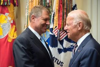 Iohannis: Biden si-a exprimat multumirea fata de mersul lucrurilor in privinta combaterii coruptiei