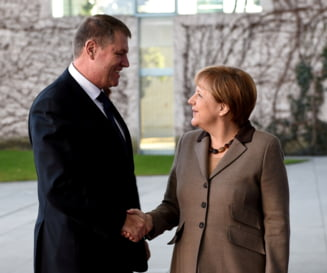 Iohannis, declaratii comune cu Merkel, despre aderarea la Schengen si imigrantii romani