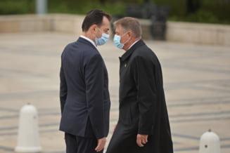 """Iohannis, despre afirmaţiile lui Orban privind intervenţii externe în PNL: """"Pun astfel de declaraţii pe seama ascuţirii luptei"""""""