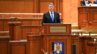 Iohannis, in Parlament: Romanii vor lideri cinstiti. Nu faceti rau mergand mai departe cu Legile Justitiei si Codurile Penale