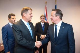 Iohannis, intalnire cu Cameron la Bruxelles - ce l-a sfatuit pe premierul britanic (Video)