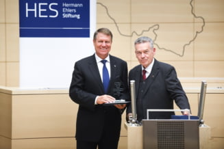Iohannis, premiu pentru merite deosebite in lupta cu coruptia, in Germania