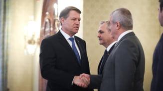 Iohannis a anuntat programul consultarilor pentru formarea noului Guvern: Dragnea si Tariceanu, primiti in acelasi timp