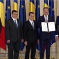Iohannis a semnat, de ziua lui, Acordul Politic National, impreuna cu Opozitia: PSD a pierdut primul rand de alegeri dintr-un set mai larg