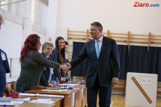 Iohannis a votat: Este o zi extrem de importanta pentru Romania, dar si pentru mine personal (Foto)