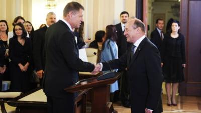 "Iohannis asigura ca va respecta Constitutia, Basescu ii spune ca trebuie sa fie ""la limita"""