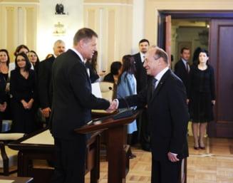 Iohannis ii raspunde lui Basescu: E vocal si postac, ii prieste pensia