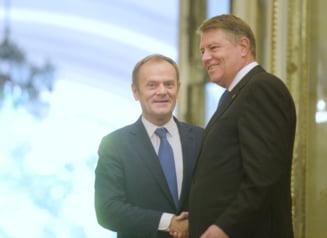 Iohannis l-a decorat pe Donald Tusk cu Steaua Romaniei in grad de Mare Cruce