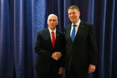 Iohannis s-a intalnit cu Mike Pence si Manfred Weber: Discutii despre Parteneriatul Strategic si mandatul Romaniei la presedintia UE