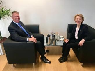 Iohannis s-a intalnit cu sefa CE: Nu are propuneri de comisari, dar ii cere sa nu accepte ce i-a trimis Dancila