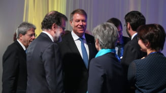 Iohannis s-a vazut miercuri cu Macron, Juncker si alti lideri europeni, la reuniunea Consiliului European (Galerie foto)