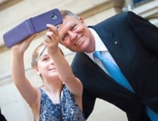 Iohannis selfie copii