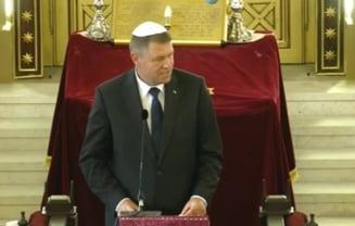 Iohannis si Ponta: Incident si gafa la o dezbatere a comunitatii evreiesti