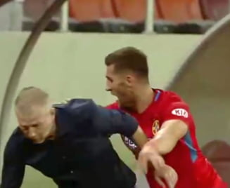 Iordanescu junior, bruscat de un fotbalist de la FCSB: Hai sa nu ne mai ascundem