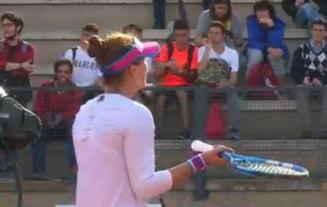 Irina Begu s-a certat cu arbitrul in timpul meciului cu Angelique Kerber de la Roma