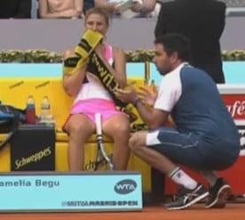 Irina Begu si-a contrat antrenorul in timpul meciului cu Kvitova - Iata ce i-a spus