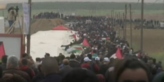 Israelul a intampinat cu tancurile protestatarii palestinieni: 7 oameni au fost ucisi in confruntarile violente