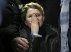 Iulia Timosenko, in lacrimi in Piata Independentei: Voi sunteti eroii!