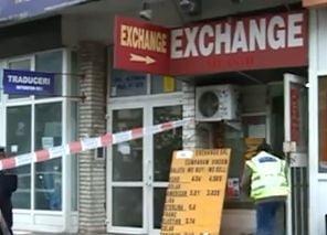 Jaf la o casa de schimb valutar din Bucuresti (Video)