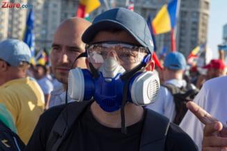 Jandarmeria Romana, lamuriri privind gazele lacrimogene folosite in timpul protestului diasporei