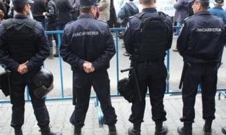 Jandarmii, pregatiti de meci, la Giurgiu