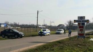 Jandarmii au inceput controalele in localitatea carantinata Visina Noua