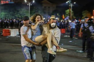 Jandarmii au secretizat informatia privind cantitatea de gaze folosita la interventia de la protestul diasporei