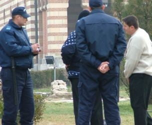 Jandarmii in stare de alerta in Piata Universitatii