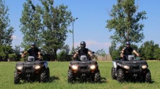 Jandarmii olteni, dotati cu trei ATV-uri printr-un proiect cu finantare europeana
