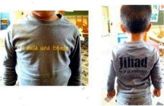 """Jihad, trimis la scoala cu un tricou pe care scria """"Sunt o bomba"""""""