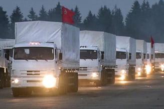 Joaca de-a convoiul umanitar: cele 280 de camioane rusesti si-au schimbat brusc directia