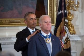 Joe Biden a izbucnit in lacrimi cand Obama l-a decorat: Cat timp inca respir voi fi alaturi de tine (Video)