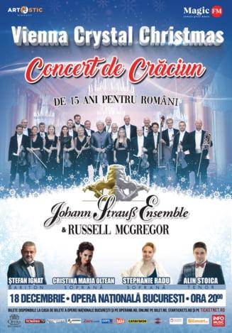 Johann Strauss Ensemble prezinta concertul aniversar Vienna Crystal Christmas, in turneu national