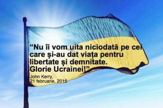 John Kerry ameninta Rusia cu noi sanctiuni: Glorie Ucrainei! America e alaturi de voi