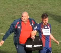 Jucator de la Steaua, desfigurat dupa ce a fost luat la pumni in timpul meciului: Explicatie incredibila a agresorului