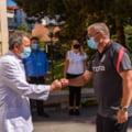 """Jucatorii campioanei CFR au mers la Spitalul de Boli Infectioase din Cluj. Dan Petrescu: """"Va multumim si sper sa nu mai avem nevoie sa venim pe aici"""""""