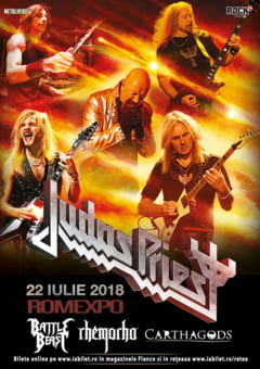 Judas Priest canta din nou la Bucuresti, pe 22 iulie